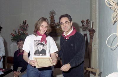 L'escriptor Gabriel Janer Manila em va entregar el premi Accèsit de Castellitx al 2001